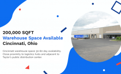 Cincinnati Warehouse Space Available | 200,000 SQFT
