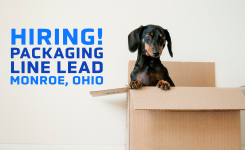 Hiring! | Packaging Line Lead | Monroe, Ohio